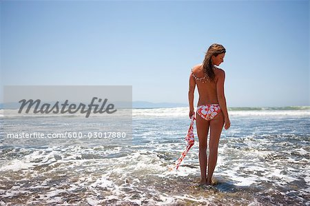 Topless Woman on the Beach, Punta Burros, Nayarit, Mexico Stock Photo - Premium Royalty-Free, Image code: 600-03017880
