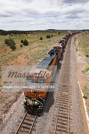 Freight Train, Arizona, USA Stock Photo - Premium Royalty-Free, Image code: 600-03075780