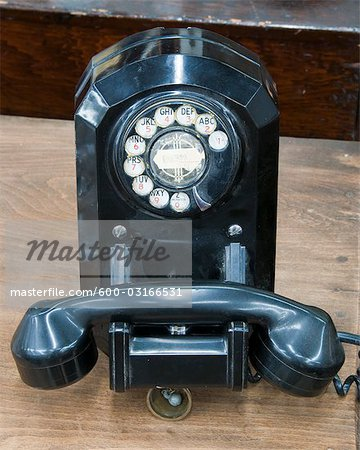 Old Fashioned Rotary Telephone Stock Photo - Premium Royalty-Free, Image code: 600-03166531