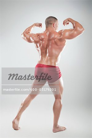 Portrait of Body Builder Stock Photo - Premium Royalty-Free, Image code: 600-03179201
