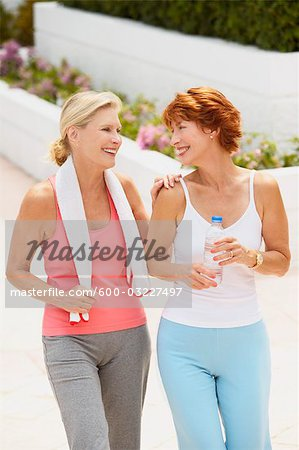 Two Women Exercising Stock Photo - Premium Royalty-Free, Image code: 600-03227497
