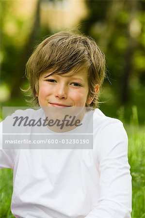 Portrait of Boy, Salzburger Land, Austria