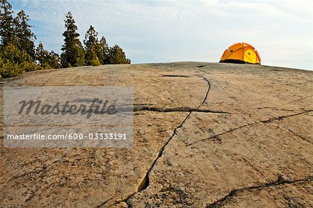 Camping on the Canadian Shield, Georgian Bay, Ontario, Canada Stock Photo - Premium Royalty-Free, Image code: 600-03333191