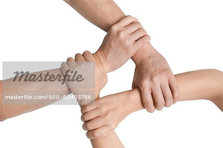 Clasped Hands Stock Photo - Premium Royalty-Free, Image code: 600-03403786