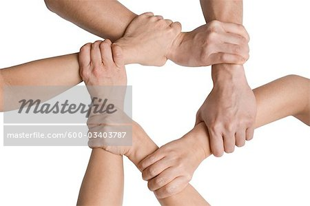 Clasped Hands Stock Photo - Premium Royalty-Free, Image code: 600-03403787