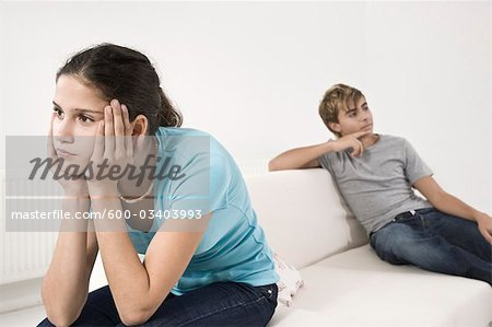 Teenage Couple Having Argument Stock Photo - Premium Royalty-Free, Image code: 600-03403993