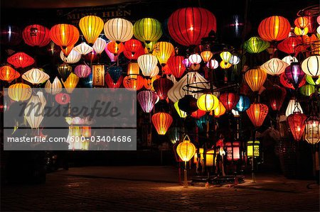 Lanterns, Hoi An, Quang Nam Province, Vietnam Stock Photo - Premium Royalty-Free, Image code: 600-03404686