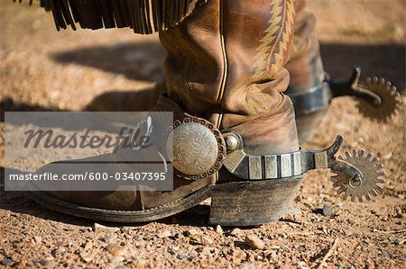 Cowboy Boots and Spurs Stock Photo - Premium Royalty-Free, Image code: 600-03407395