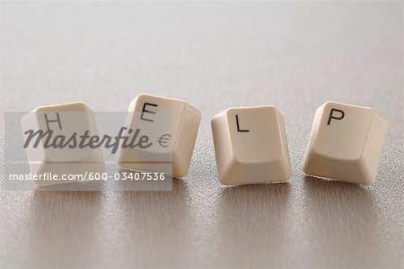 Computer Keys Spelling HELP Stock Photo - Premium Royalty-Free, Image code: 600-03407536
