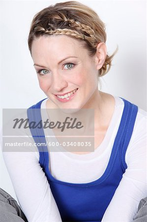 Portrait of Blond Woman Stock Photo - Premium Royalty-Free, Image code: 600-03408035