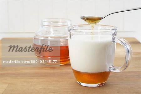 Honey and Milk Stock Photo - Premium Royalty-Free, Image code: 600-03445177