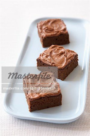 Plate with Brownies Stock Photo - Premium Royalty-Free, Image code: 600-03445417