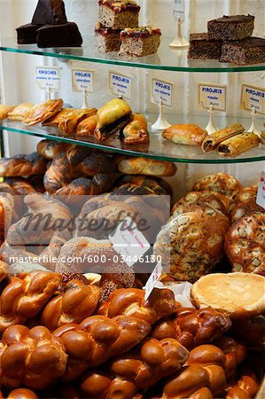 Baked Goods in Jewish Bakery, Paris, France Stock Photo - Premium Royalty-Free, Image code: 600-03446130