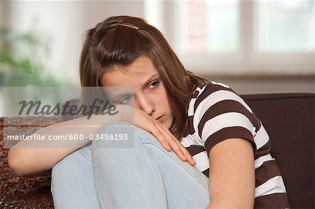 Teenage Girl Looking Upset, Mannheim, Baden-Wurttemberg, Germany Stock Photo - Premium Royalty-Free, Image code: 600-03456193