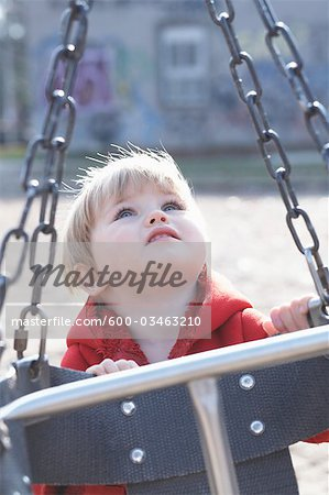 Little Girl Playing at Sorauren Avenue Park, Toronto, Ontario, Canada Stock Photo - Premium Royalty-Free, Image code: 600-03463210
