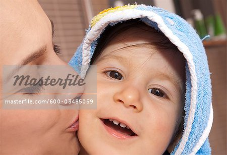 Baby After a Bath Stock Photo - Premium Royalty-Free, Image code: 600-03485059