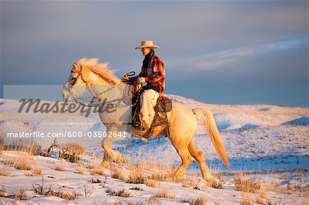 Cowgirl, Shell, Big Horn County, Wyoming, USA Stock Photo - Premium Royalty-Free, Image code: 600-03502641