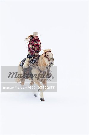 Cowgirl, Shell, Big Horn County, Wyoming, USA Stock Photo - Premium Royalty-Free, Image code: 600-03502655