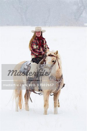 Cowgirl, Shell, Big Horn County, Wyoming, USA