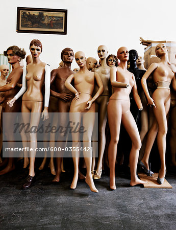 Group of Mannequins Stock Photo - Premium Royalty-Free, Image code: 600-03554421