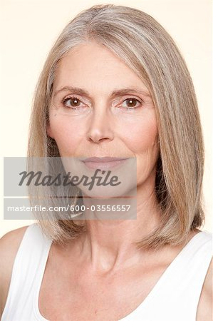 Portrait of Woman Stock Photo - Premium Royalty-Free, Image code: 600-03556557