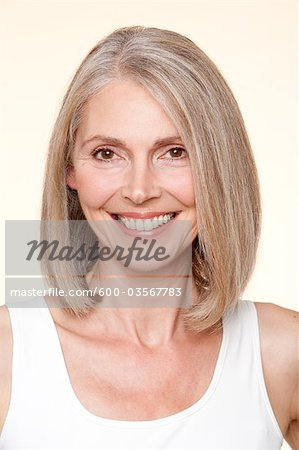 Portrait of Woman Stock Photo - Premium Royalty-Free, Image code: 600-03567783