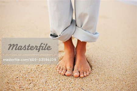 Woman's Feet, Baja California Sur, Mexico Stock Photo - Premium Royalty-Free, Image code: 600-03586529