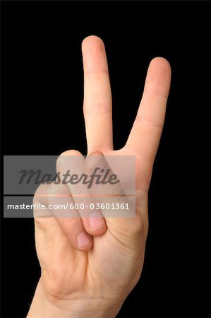 Peace Sign Stock Photo - Premium Royalty-Free, Image code: 600-03601361