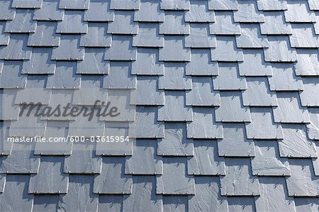 Slate Wall, Clausthal-Zellerfeld, Goslar, Harz, Lower Saxony, Germany Stock Photo - Premium Royalty-Free, Image code: 600-03615954