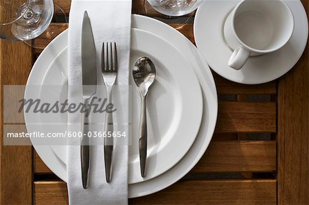 Place Setting Stock Photo - Premium Royalty-Free, Image code: 600-03665654