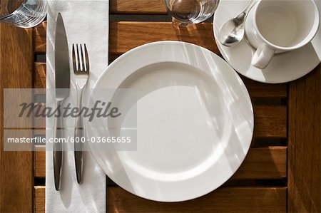 Place Setting Stock Photo - Premium Royalty-Free, Image code: 600-03665655