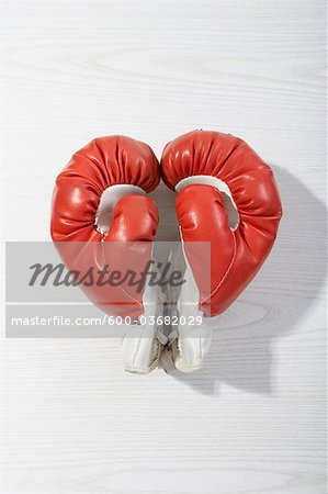 Boxing Gloves in Heart Shape Stock Photo - Premium Royalty-Free, Image code: 600-03682029