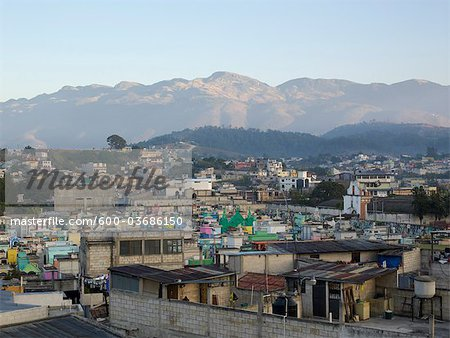 View of Huehuetenango From Rooftop, Huehuetenango Department, Guatemala