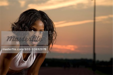 Portrait of Young Adult Outdoors Stock Photo - Premium Royalty-Free, Image code: 600-03692078