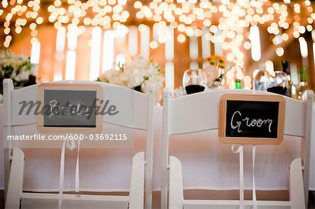 Seats Reserved for the Bride and Groom Stock Photo - Premium Royalty-Free, Image code: 600-03692115