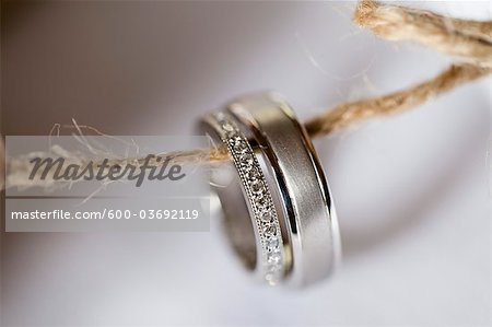 Close-up of Wedding Rings Stock Photo - Premium Royalty-Free, Image code: 600-03692119