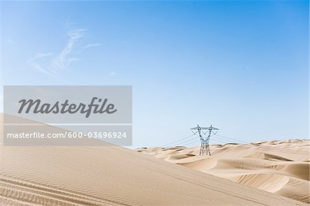 Hydro Tower, Imperial Sand Dunes Recreation Area, California, USA Stock Photo - Premium Royalty-Free, Image code: 600-03696924