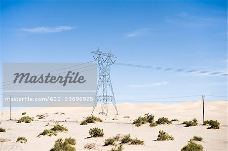 Hydro Tower, Imperial Sand Dunes Recreation Area, California, USA Stock Photo - Premium Royalty-Free, Image code: 600-03696925