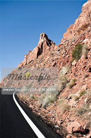 Highway 89, Navajo Indian Reservation, Navajo County, Arizona, USA Stock Photo - Premium Royalty-Free, Image code: 600-03696940