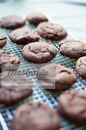 Freshly Baked Gluten-free Chocolate Cookies Stock Photo - Premium Royalty-Free, Image code: 600-03698376