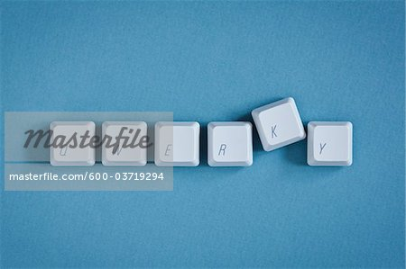 Computer Keys spelling Qwerky Stock Photo - Premium Royalty-Free, Image code: 600-03719294