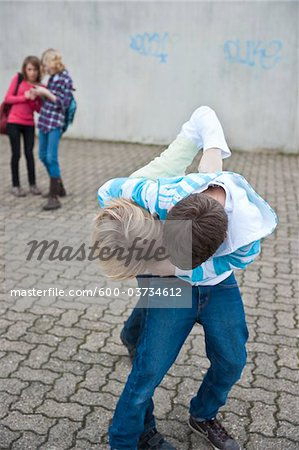 Teenagers Fighting Stock Photo - Premium Royalty-Free, Image code: 600-03734612