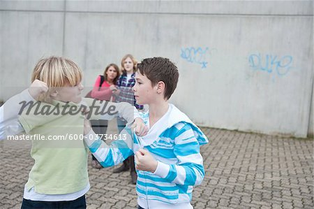 Teenagers Fighting Stock Photo - Premium Royalty-Free, Image code: 600-03734613
