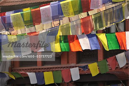 Prayer Flags, Boudhanath, Kathmandu, Bagmati, Madhyamanchal, Nepal Stock Photo - Premium Royalty-Free, Image code: 600-03737723