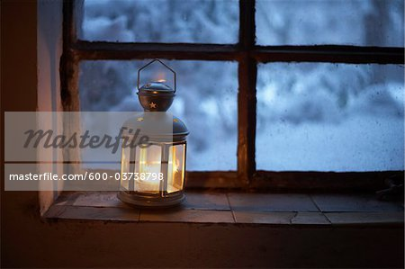 Lantern on Window Sill, Hamburg, Germany Stock Photo - Premium Royalty-Free, Image code: 600-03738798