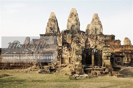 10th Century Khmer Temple of Pre Rup, Angkor, Cambodia Stock Photo - Premium Royalty-Free, Image code: 600-03805603