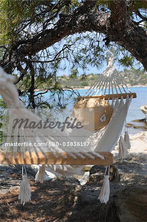 Hammock by Water Stock Photo - Premium Royalty-Free, Image code: 600-03836197