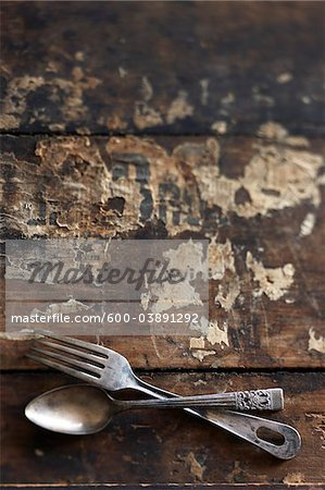 Antique Cutlery Stock Photo - Premium Royalty-Free, Image code: 600-03891292