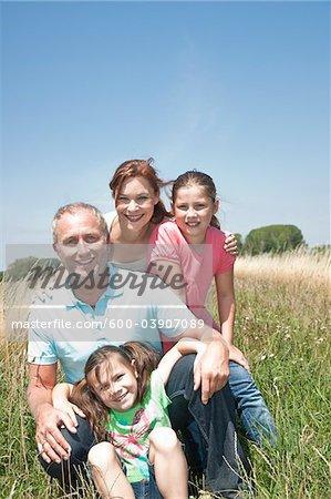 Portrait of Family, Mannheim, Baden-Wurttemberg, Germany