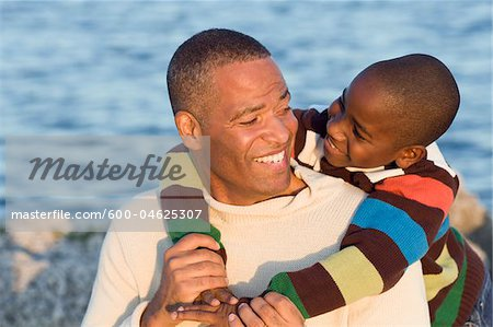 Portrait of Father and Son Stock Photo - Premium Royalty-Free, Image code: 600-04625307